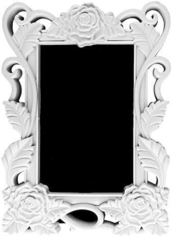 da dipingere Cornice portafoto a forma di cuore con rilievo stile barocco