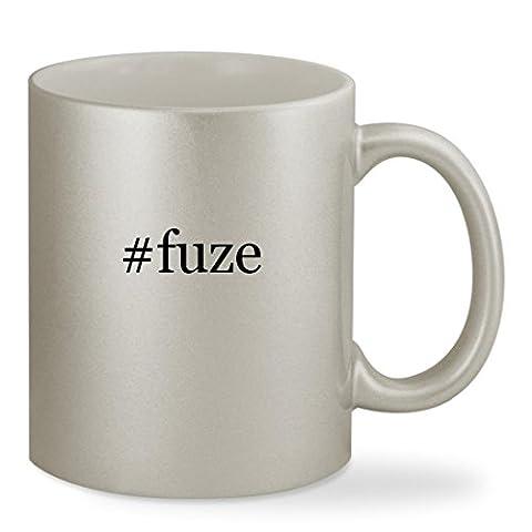 #fuze - 11oz Hashtag Silver Sturdy Ceramic Coffee Cup Mug (Fuze Peach Mango)