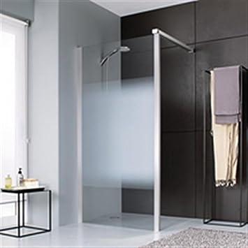 Paredes Jazz fijo ducha abierta 100 cristal degradado satinado Profile plata mate Ref. l13ja301090do: Amazon.es: Hogar