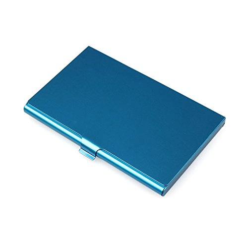 Sonmer Creative Aluminum Holder Metal Cover Credit Business Card Wallet (Blue)