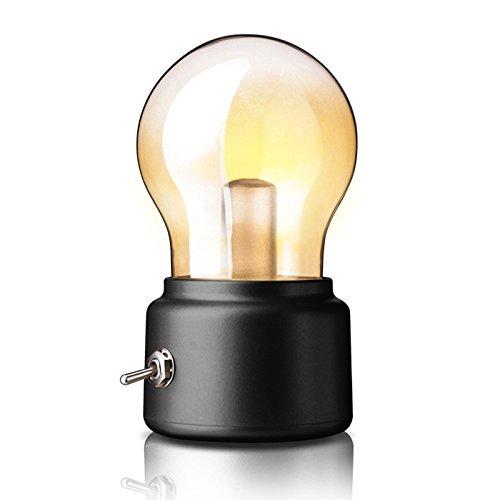 Zehui Usb充電式夜間ライトヴィンテージベッドサイドデスクランプDC 5 V withメタルレバースイッチクリエイティブミニレトロLEDランプ電球 mhy-0808-jj191 B074MTLGNN