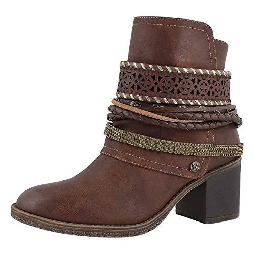 Women's 4 Brown Boot Bizou Ankle SoftMoc Casual zEYwqxCPd
