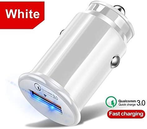 ファスト電話X 7サムスンS10 A50ミレーQC3.0自動車電話の充電器のための車のバッテリー充電器、5Vの3.4AのUSB車の充電アダプタを充電車の充電器、 Charger (Plug Type : White)