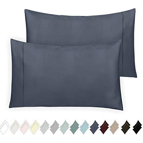 California Design Den 400 Thread Count 100% Cotton Pillow Cases, Indigo Batik King Pillowcase Set of 2, Long - Staple Combed Pure Natural Cotton Pillowcase, Soft & Silky Sateen Weave