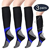 Compression Socks for Women & Men (3 Pairs), Poshei Medical Graduated Compression Sock