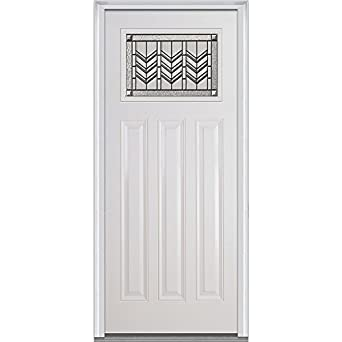 National Door Company Z000650R Inswing Entry Door Prehung Right Hand Prairie Bevel Decorative Glass  sc 1 st  Amazon.com & National Door Company Z000650R Inswing Entry Door Prehung Right ...