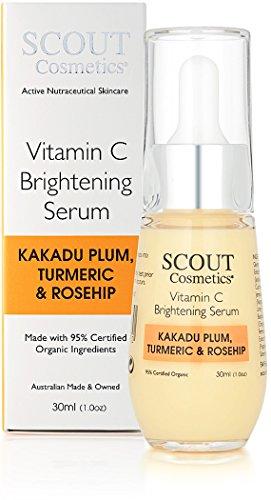 SCOUT Cosmetics Vitamin C Brightening Face Serum With Kakadu Plum, Turmeric & Rosehip