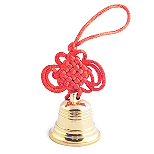 Jingle Bell Hanging - Feng Shui Brass Good Luck,Protection Hanging Bell + One Free Red String Bracelet SKU:Y1355