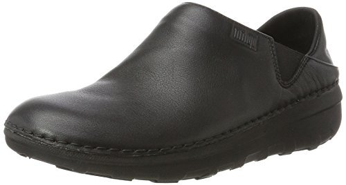FitFlop Women's SUPERLOAFER Medical Professional Shoe, All All Black, 7.5 M US