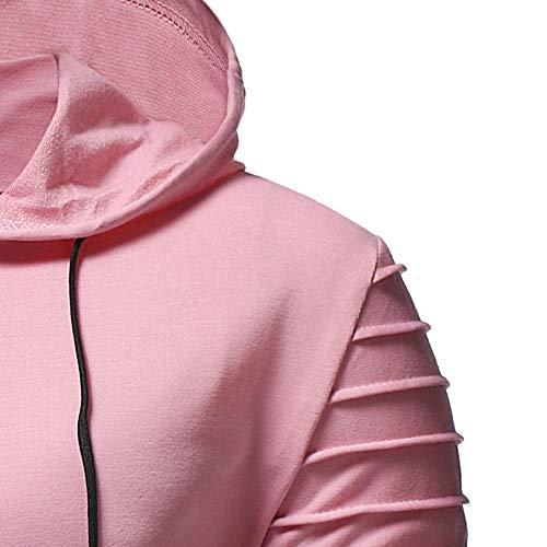 HHei_K Mens Autumn Winter Casual Plain Slim Fit Long Sleeve Full Zipper Coat Pocket Hoodies Sweatshirt Blouse by HHei_K (Image #5)