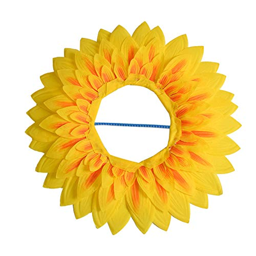 Props Performance Dance Celebration Funny Party Headgear Sunflower Games Festival(58cm)