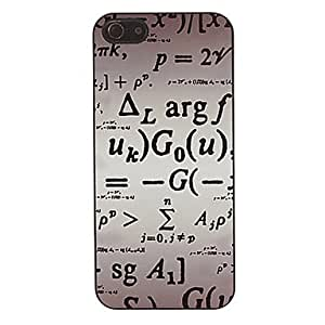 Patrón de fórmulas matemáticas caso duro suave para 5/5s iphone