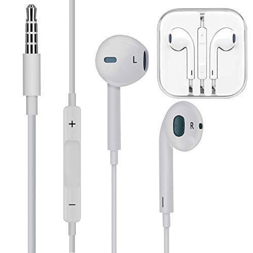 Earbuds/Earphones/Headphones FUELUS Wired/Noise Isolating Earplugs Stereo Bass Headphones with Built-in Microphones & Volume Control ,Compatible iPhone 6 /iPad Samsung/Android/MP3 All 3.5mm - Iphone Plugs Ear