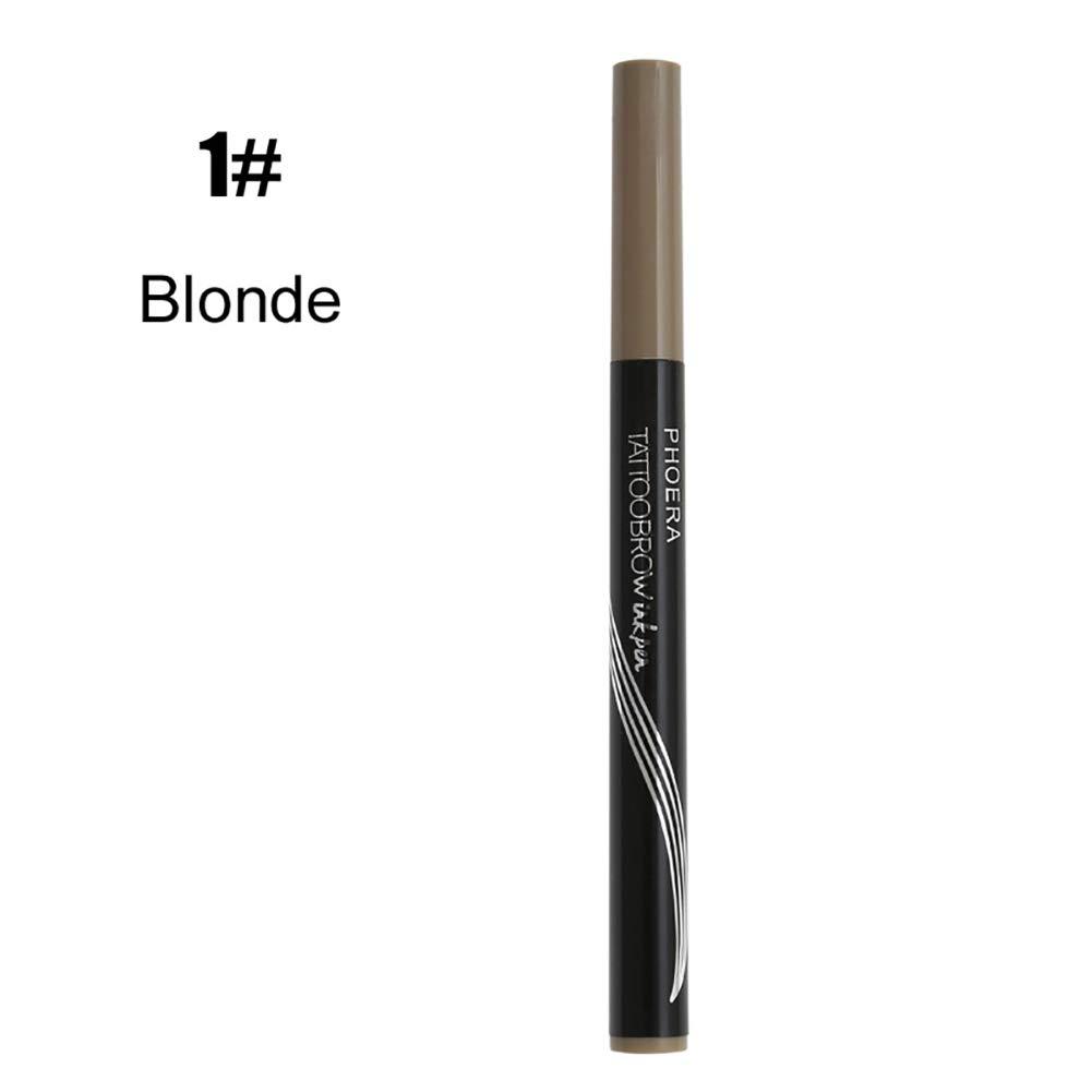 Eyebrow Pencil gLoaSublim, Fork Tip Eyebrow Pencil Tattoo Pen Fine Sketch Enhancer Long-lasting Makeup - 3#BLACK/BROWN