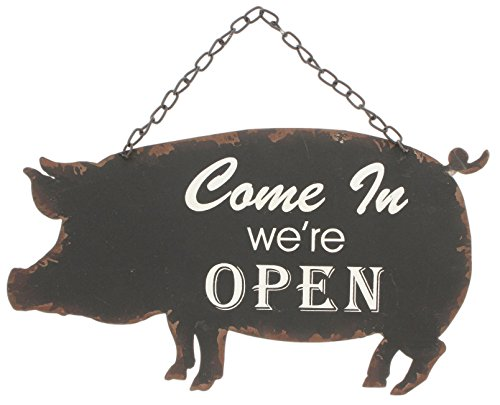 Best buy Park Hill Open/Closed Vintage Style Metal Farm Animal Sign (Pig)