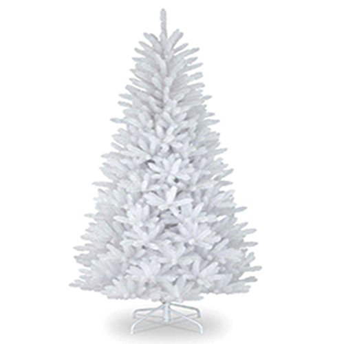 '6FT Christmas Tree SNOW WHITE 550 Pines Artificial Tree with Metal Stand 180CM