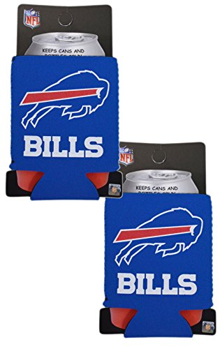 Official National Football League Fan Shop Authentic 2-Pack NFL Insulated 12 Oz Can Cooler (Buffalo - Kit Party Banner Nfl Fan