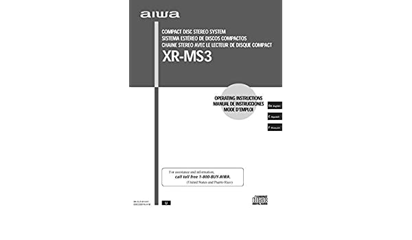 Aiwa xr-ms3 stereo system user manual. Download as pdf.