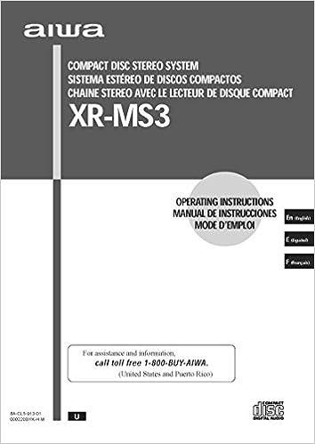 Aiwa xr-ms3 user manual.