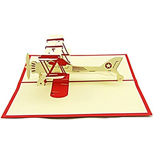 Artistic Pop-up 3D Greeting Cards Retro Helicopter Sales