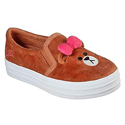 Skechers Womens LINE Friends: Double Up - Plush Pals Sneaker | Fashion Sneakers