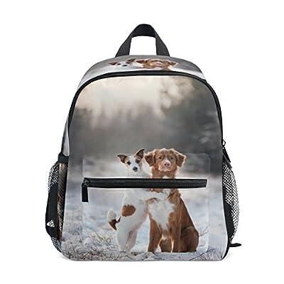 Top Carpenter Primary School Backpack Bookbag Retriever And Jack Russell for Toddler Boys Girls Kids