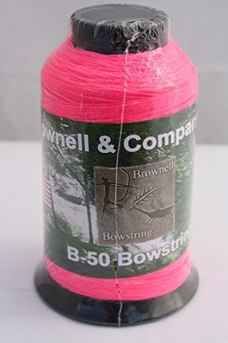 Dacron Bowstring - Brownell B50 1/4lb Flo Pink Bowstring Material 1/4lb Dacron Bow String Archery