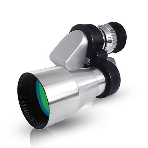 - ZUZEN Telescope 8X20 Corner High Magnification Blue Film Metal Optical Waterproof Portable Monocular Silver