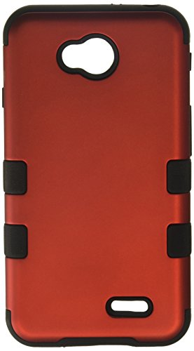 Asmyna TUFF Hybrid Phone Cover for LG Optimus Exceed 2/Optimus L70 - Retail Packaging - Red/Black