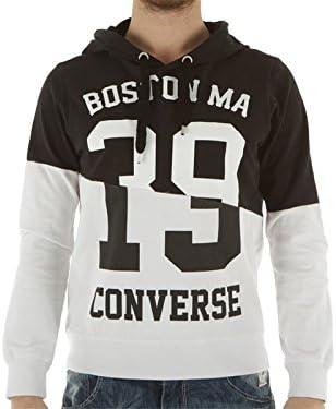Converse, Hombre, Interlock Sweater Auth Man 2 Colors Hood, algodón, sudaderas, Negro, Hombre, 5eu398c, negro, S