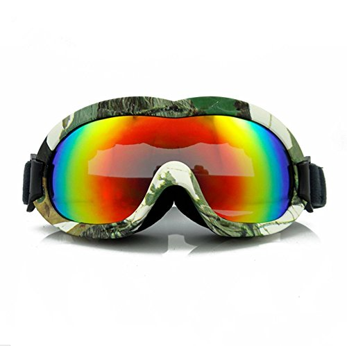 aea9a9b9f3 Bemodst® Children Ski Goggles Girls Boys REVO Plating Lens Kids UV400  Snowboard Goggles Water Resistance Anti-fog Wear Over RX Glasses (Army  Green) - Buy ...