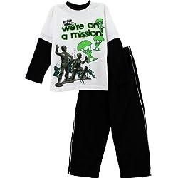 Toy Story Boys White T-Shirt Pants Set 100BTM (4)
