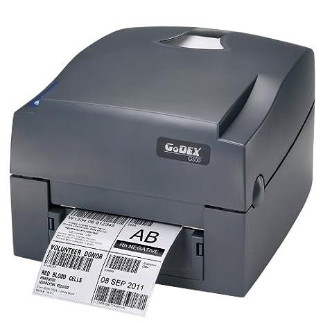 Godex G500 - Impresora de Etiquetas (Térmica Directa/Transferencia térmica, 203 x 203 dpi, 127 mm/s, 10,8 cm, 172,7 cm, Negro)