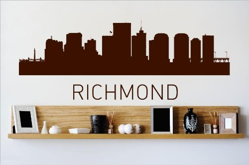 Top Selling Decals - Prices Reduced : Richmond Virginia VA Skyline City View Beautiful Scene Landmarks, Buildings & Water Bedroom Bathroom Living Room Picture Art Mural - Size : 6 - Virginia Landmark