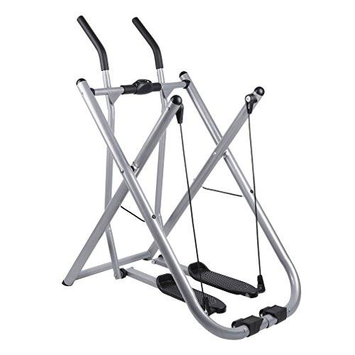 Homgrace Bicicleta elíptico plegable, crosswalker caminador entrenamiento en casa, peso de usuario hasta 100 kg, color plateado: Amazon.es: Deportes y aire ...