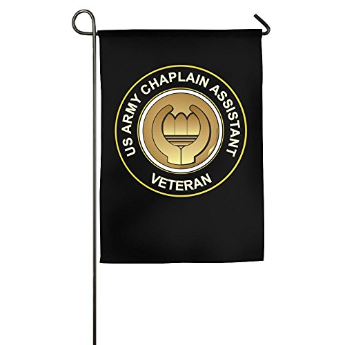 Chaplain Flag - Toxic Smo US Army Veteran Chaplain Assistant Garden Flag 12 X 18 Inch Size Banner For Outdoor Decor Black