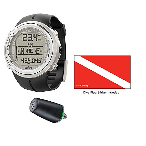 SUUNTO DX Silver Elastomer with USB & Suunto Wireless Tank Pressure Transmitter Led