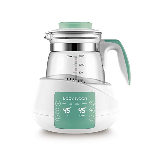 Baby Noah Formula Ready Water Kettle, Keep Warm 24 Hours Constant Temperature Control, 4-in-1(Electric Boiler, Heater, Bottle Warmer, Sterilizer) BPA-Free with Air Cooling Technology
