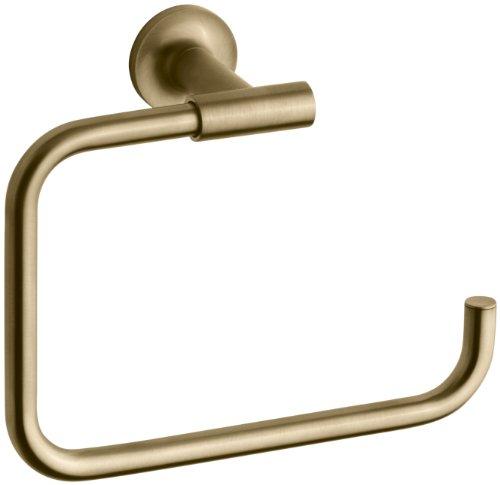 Kohler K-14441-BGD Purist Towel Ring, Vibrant Moderne Brushed Gold