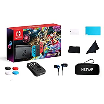 Nintendo Swap Mario Kart 8 Deluxe with Neon Blue & Purple Pleasure-Con Consoles, 6.2″ Touchscreen LCD Show, 32GB Inner Storage, 802.11AC WiFi, Bluetooth 4.1 W/GM 13 in 1 Supper Package Case