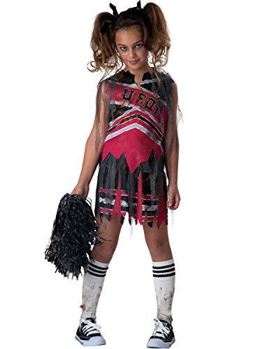 Kids Zombie Cheerleader Costumes (Spiritless Cheerleader Child Costume - Medium)