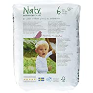 Naty by Nature Babycare Eco-Friendly Premium Disposable Diapers for Sensitive Skin, Size 6, 4 packs of 18 (72 Count) (Chemical, chlorine, perfume free)