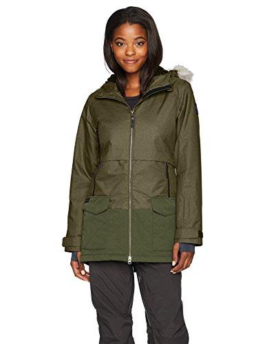 (Columbia Women's Catacomb Crest Parka Jacket, Surplus Green, Small )