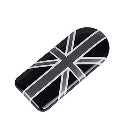 LVBAO Glove Compartment Storage Box Handle Cover Sticker Trim Mini Cooper F54 Clubman F60 Countryman (Union Jack Black)