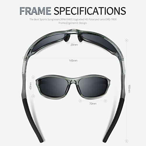 56b00b9cb0 TOREGE Polarized Sports Sunglasses for Men Women for Cycling Running  Fishing Golf TR90 Unbreakable Frame TR010