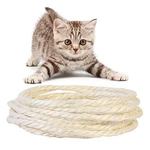 Ofanyia 5M cuerda de sisal para gatos a garra juguetes de ...