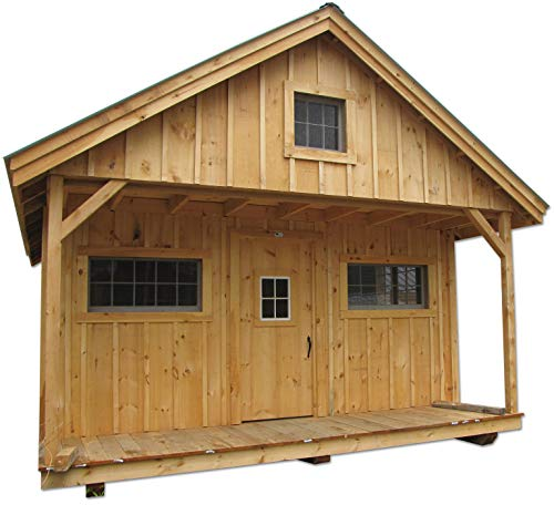 Pre Cut Timber Frame: Timber Frame Post And Beam Vermont Cottage With Loft