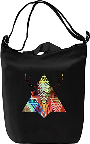 Line Deer Borsa Giornaliera Canvas Canvas Day Bag| 100% Premium Cotton Canvas| DTG Printing|