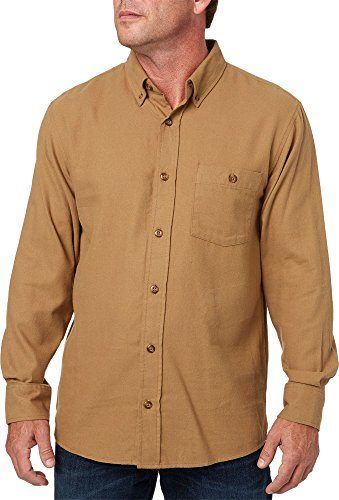 Field & Stream Men's Classic Lightweight Flannel Long Sleeve Shirt (Solid Ermine, M) ()