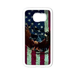 American Eagle Flag White Phone Case for SAMSUNG S6